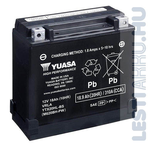 YUASA Motor Akkumulátor YTX20HL-BS 12V 18Ah 310A Jobb+