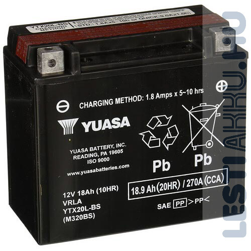 YUASA Motor Akkumulátor YTX20L-BS 12V 18Ah 270A Jobb+