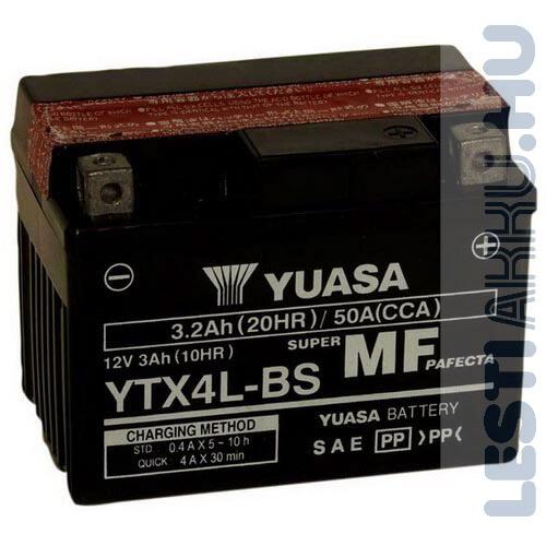 YUASA Motor Akkumulátor YTX4L-BS 12V 3