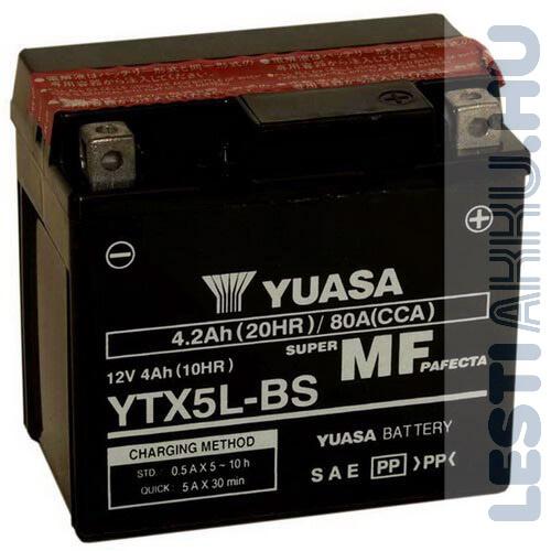 YUASA Motor Akkumulátor YTX5L-BS 12V 4