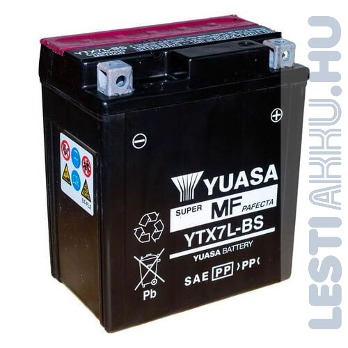 YUASA Motor Akkumulátor YTX7L-BS 12V 6