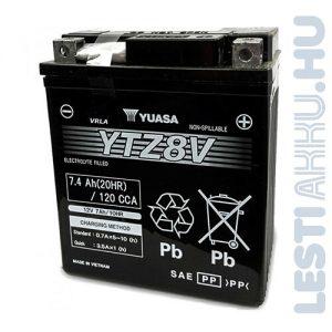 YUASA Start-Stop Motor Akkumulátor YTZ8V 12V 7Ah 120A Jobb+