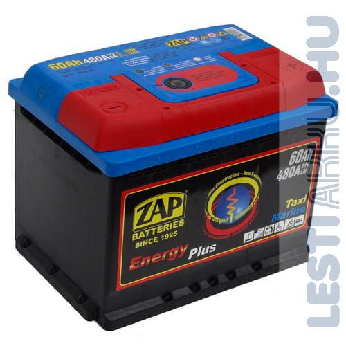 ZAP Energy Plus munka akkumulátor 12V 60Ah Jobb+