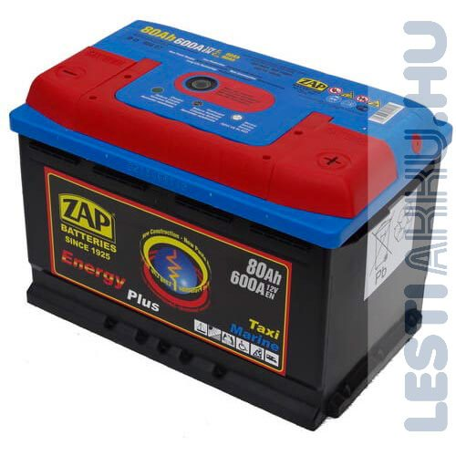 ZAP Energy Plus munka akkumulátor 12V 80Ah Jobb+