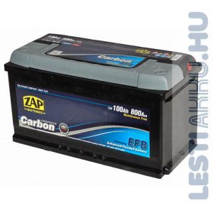 ZAP Graphite Carbon EFB Autó Akkumulátor 12V 100Ah 800A Jobb+