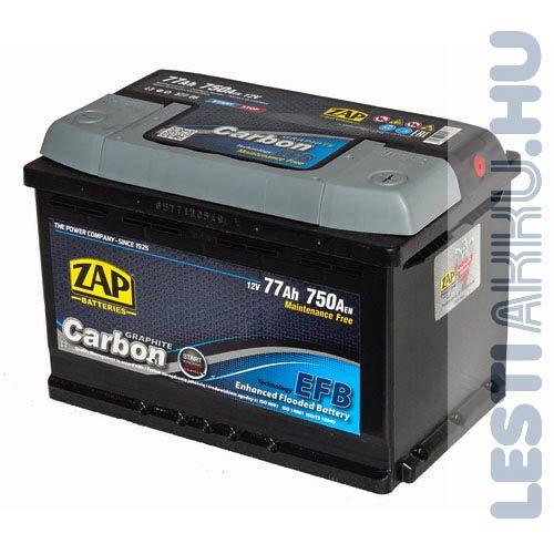 ZAP Graphite Carbon EFB Autó Akkumulátor 12V 77Ah 750A Jobb+